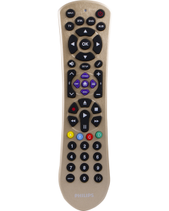 Philips 4-Device Universal Remote, Brushed Gold