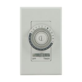 Ge 24 Hour Indoor In Wall Mechanical Timer White