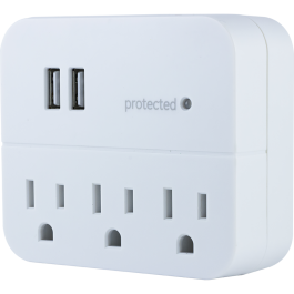 Ge Pro 3 Outlet 2 Usb Charging Wall Tap With Surge