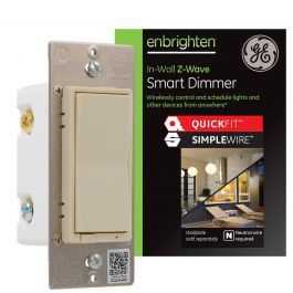 Ge Enbrighten Z Wave In Wall Smart Dimmer With Quickfit