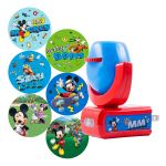 Projectables Disney Mickey Mouse & The Roadster Racers Light Sensing 6-Image LED Night Light, Red