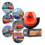 Projectables Disney Pixar Cars Light Sensing 6-Image LED Night Light, Black