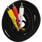GE 6ft. RCA Audio/Video Cable, Black