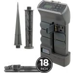 myTouchSmart Outdoor Digital Yard Stake Timer with Rotatable Outlets, Gray