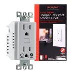 Enbrighten Zigbee In-Wall Tamper-Resistant Smart Outlet, White