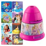 Projectables Disney Princesses Tabletop 8-Image LED Night Light, Pink