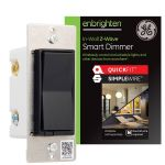 GE Enbrighten Z-Wave In-Wall Smart Dimmer with QuickFit™ and SimpleWire™, Black