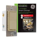 GE Enbrighten Z-Wave In-Wall Smart Dimmer with QuickFit™ and SimpleWire™, Ivory