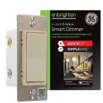 GE Enbrighten Z-Wave In-Wall Smart Dimmer with QuickFit™ and SimpleWire™, Light Almond