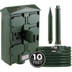 myTouchSmart Outdoor 6-Outlet Light Sensing Yard Stake Timer with 10ft. Cord, Green