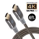 GE 6ft. 4K HDMI Cable with Ethernet, Black