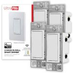 UltraPro Z-Wave Smart Dimmer with QuickFit and SimpleWire, 4 Pack, White