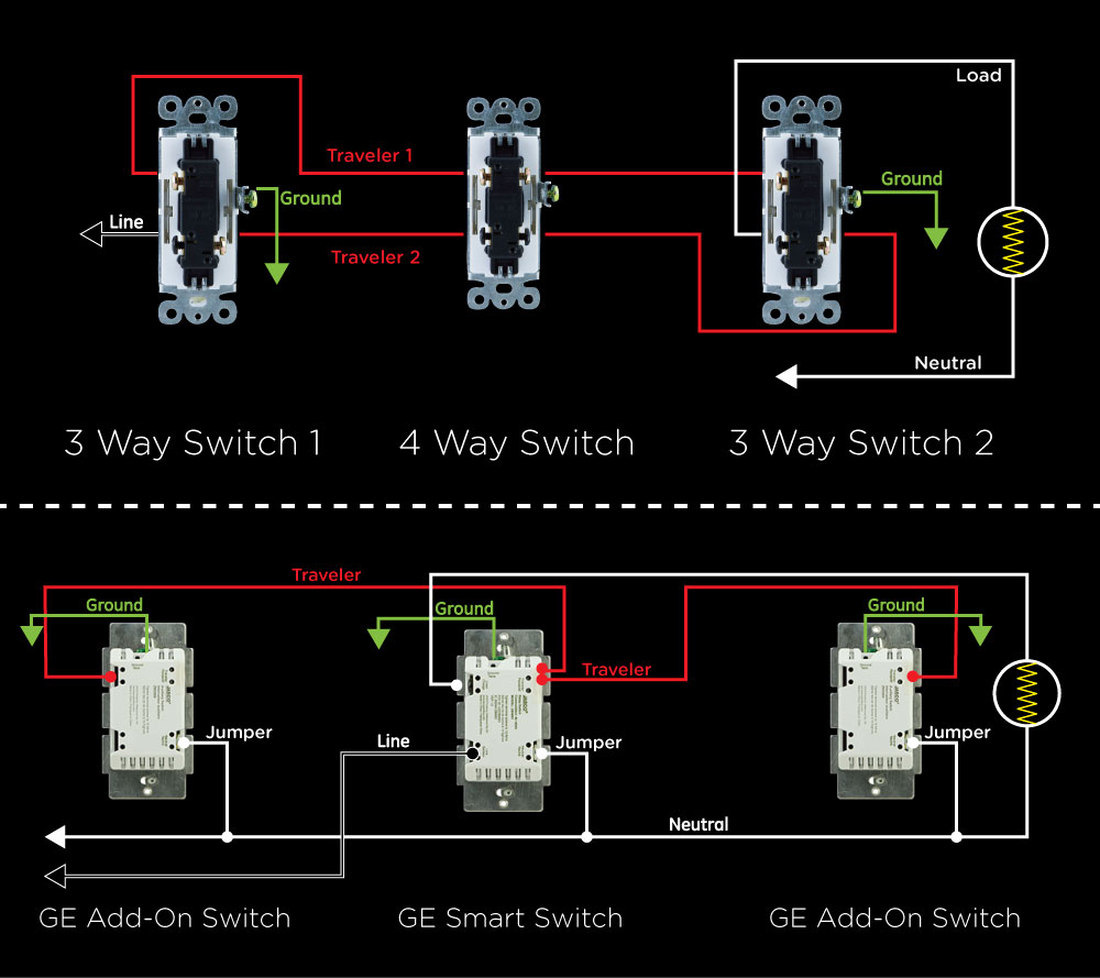 Ge 3 Way Dimmer Switch Wiring Diagram